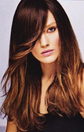Прическа волосы на бок