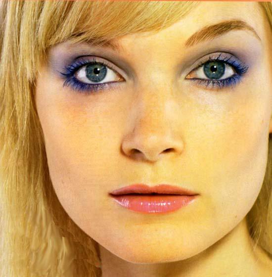 ... голубой макияж серо голубой макияж