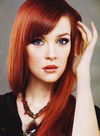 Рыжий цвет волос для брюнеток
