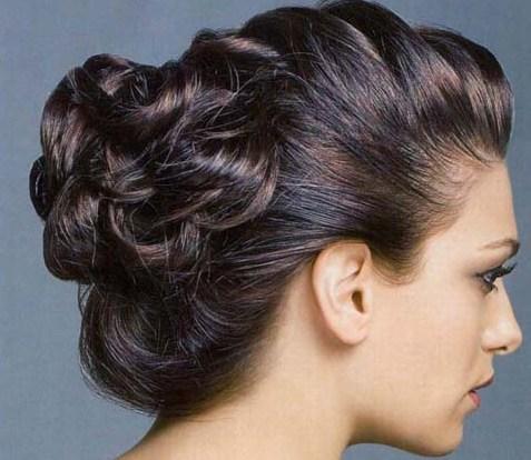 Красивые пучки на средние волосы - 298