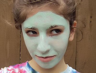 маска из голубой глины для волос время
