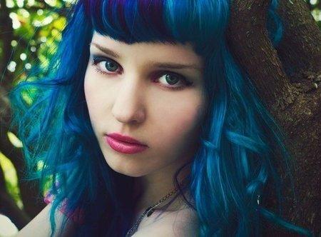 Как синькой покрасить волосы