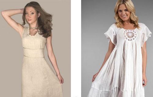 летние льняные платья - Кокетка Простое Летнее Платье Выкройка