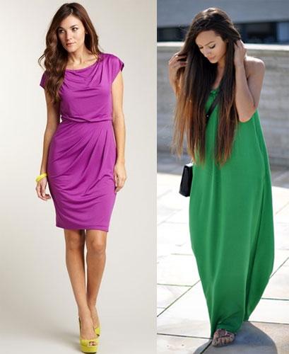 Яркое платье - как его носить.