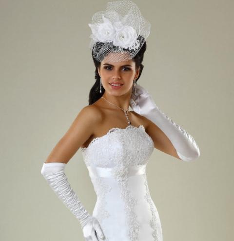 Свадебное платье шляпка