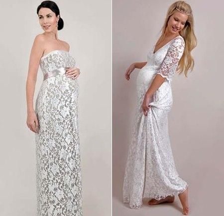 Свадебные платья для беременных 2012