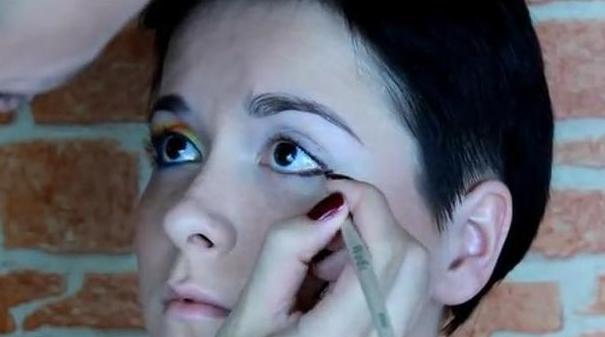 Карандашная техника фантазийный макияж урок 37 hd