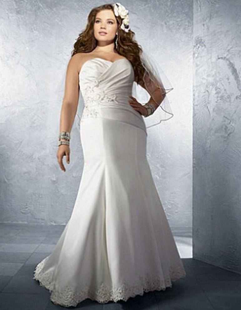 Модные свадебные платья для полных